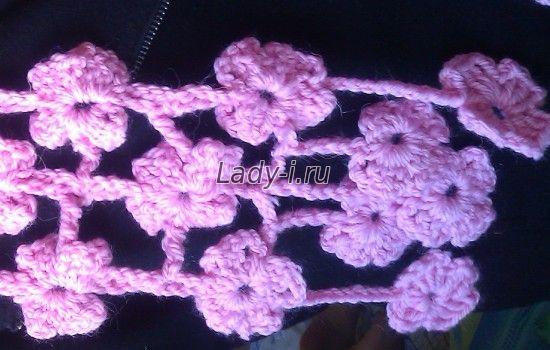 шарф из цветов фото